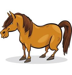 cartoon pony horse vector image