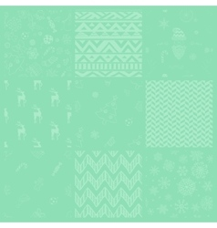 Christmas Subtle Doodles Seamless vector image