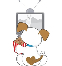 cute puppy tv vector image