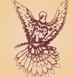 Dove sketch vector