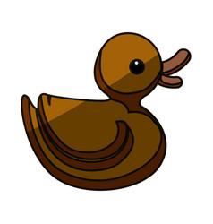 Duck toy cartoon vector