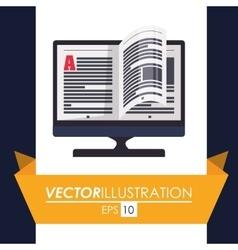 Ebook icon design vector