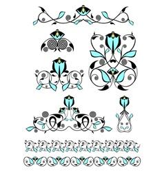 Flower decor elements vector