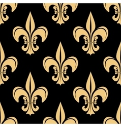 Gold and black french seamless pattern vector