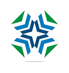 Logo Arrow Letter Line Design Symbol Graphic Icon vector image vector image