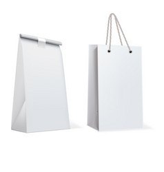 Paper bags isolated on white vector