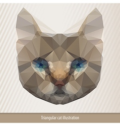 Polygonal cat vector