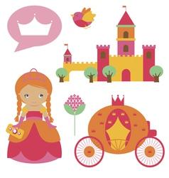 Princess clip art vector