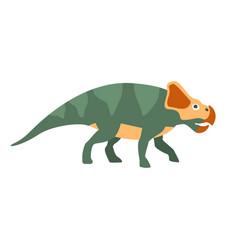 Protoceraptor dinosaur of jurassic period vector