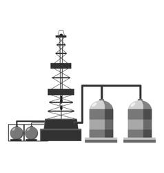 Refinery icon gray monochrome style vector image