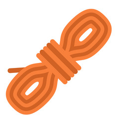 rope coil icon flat style vector image vector image