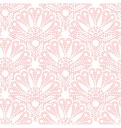 Seamless flower lace pattern on pink background vector