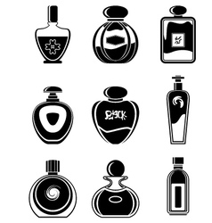Set of perfumes vector