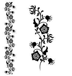 silhouette flower black vector image