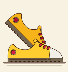 sneakers flat icon vector image vector image