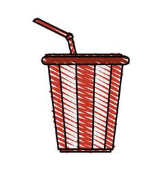 Soda drink delicious vector