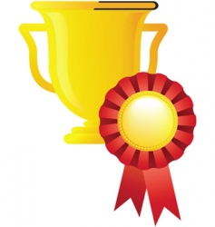 Sport award trophy vector