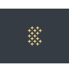 Stars letter B logotype Luxury abc icon vector image
