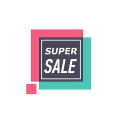 Super sale isolated sticker vector