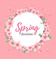 tender floral summer or spring frame template vector image