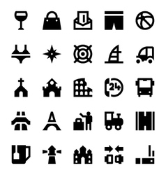 Tourism and travel icons 9 vector