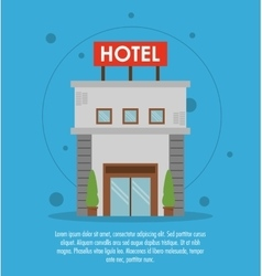 Building hotel service icon vector