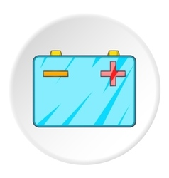 Machine battery icon cartoon style vector