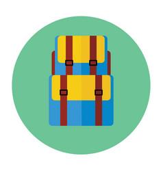 backback flat icon vector image