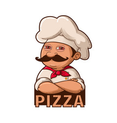 funny smiling chef vector image