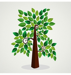 Sketchy green tree vector image