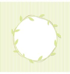 Green Leaf Round Frame vector image