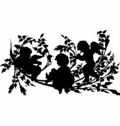 cherubs vector image