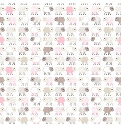 Seamless pastel pattern with sheep vector