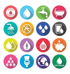 World Water Day icons - ecology green concept vector image