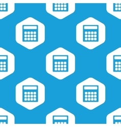 Calculator hexagon pattern vector