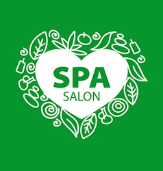 Abstract logo for spa salon in the form of heart vector