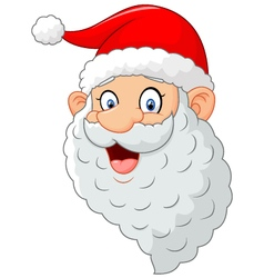 Classic santa cartoon vector