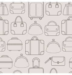 Bags hand bags and luggage for travel seamless vector