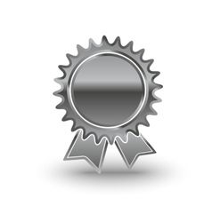 Metal award icon vector
