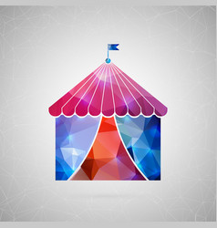 abstract creative concept icon of circus vector image