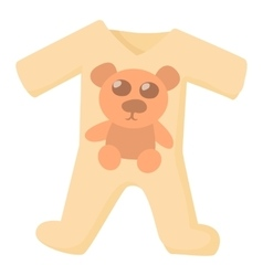 Baby rompers icon cartoon style vector