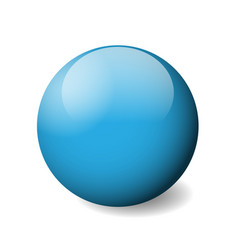 blue glossy sphere ball or orb 3d object vector image vector image