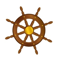 boat rudder icon image vector image