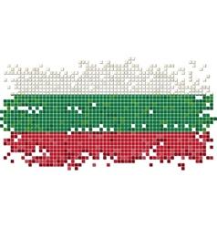 Bulgarian grunge tile flag vector