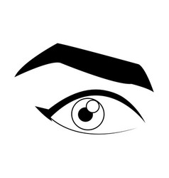 cartoon male eye angry expression icon vector image vector image