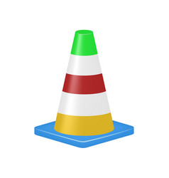 Coloured traffic cone vector