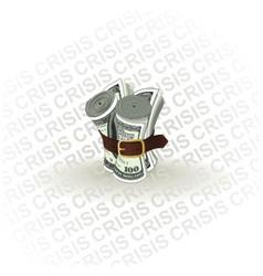 Dollar crisis vector
