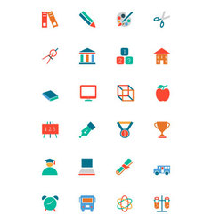 Education colored icons 10 vector