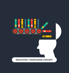 Education learning concept flat design vector
