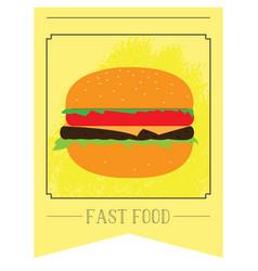 fast food menu vector image